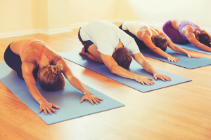 breath-centered yoga class